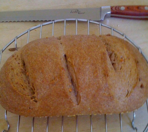 Sometimes I make plain bread like this oval; I'm still getting the hang of making the slits just right