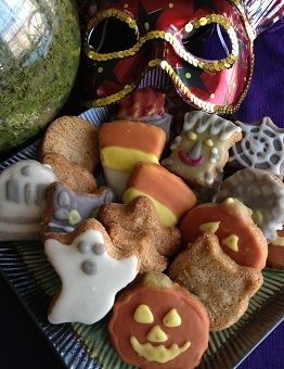 Halloween Whole Wheat Sugar Cookies made with the same dough