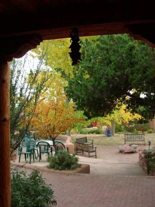 Pathway and homes in the Commons on the Alameda, Santa Fe Cohousing, Used with permission