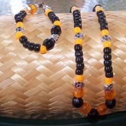 Let's Make a Halloween Necklace and Bracelet Set