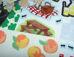 A colorful oilcloth tablecloth for the picnic basket