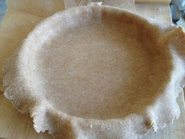 Gently press the dough into the pie plate