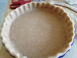 Flute the edges if using a plain pie plate, or press lightly into the scalloped edges of a quiche pan
