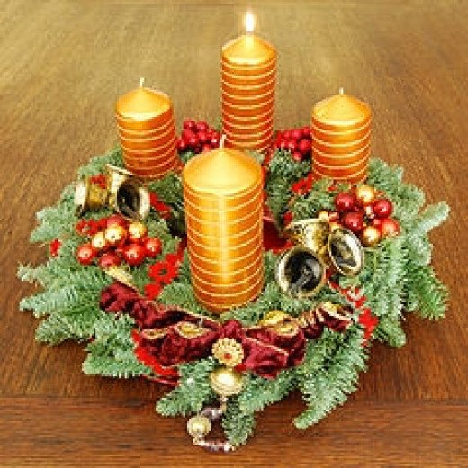 Celebrate with an Advent wreath.