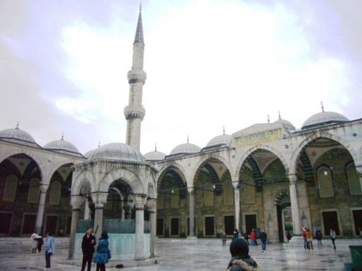 Blue Mosque Courtyard - Istanbul, Turkey