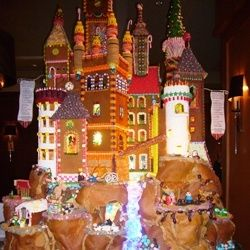 A Gingerbread House at the Seattle Sheraton