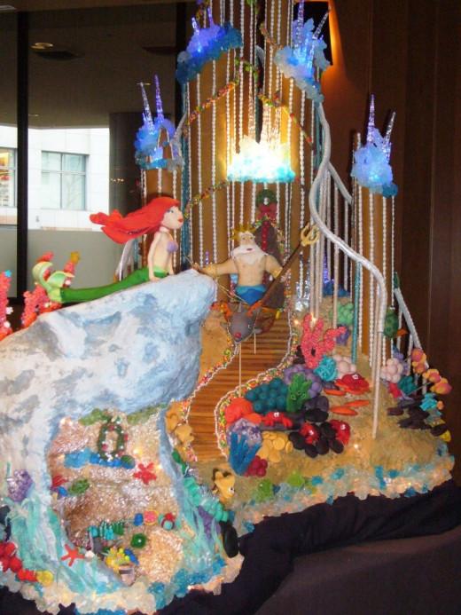 Little Mermaid Undersea Castle Gingerbread house