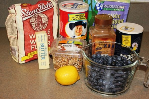 Blueberry Crumble Ingredients