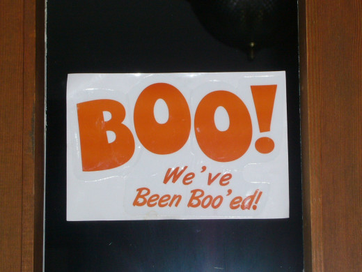 We've Been Boo'ed Sign on the Door