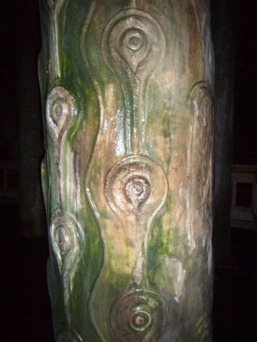 The Basilica Cistern Peacock Column