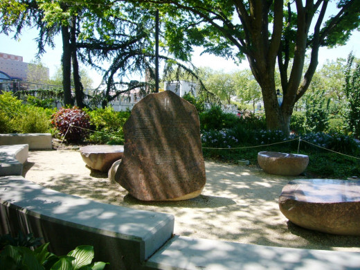 Rocks and Poets Garden - a place to contemplate