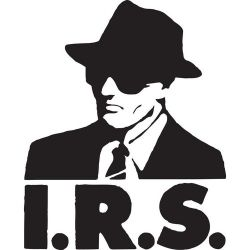 image is used to identify the organization I.R.S. Records, a subject of public interest
