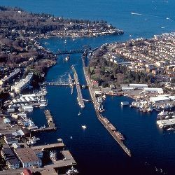 The Ballard Locks from Above - Seattle, WA