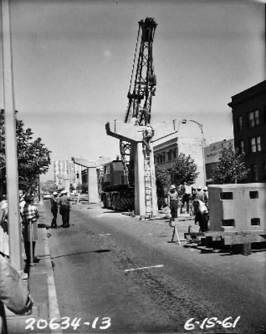 The Construction of the Seattle Monorail