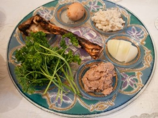 The Passover Seder Plate - Photo by Edsel L