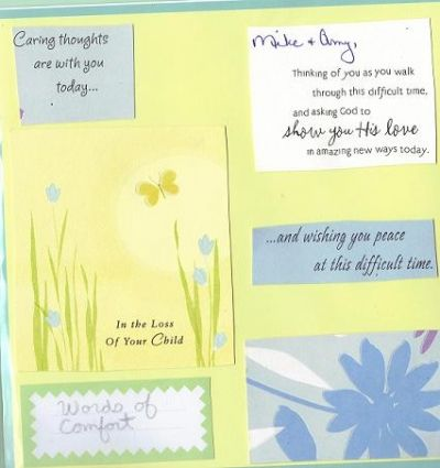 Here is an example of how I used condolance cards.