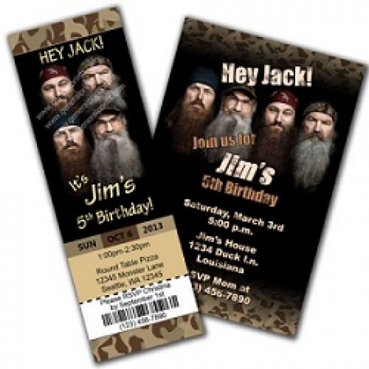 Personalized duck dynasty invitations