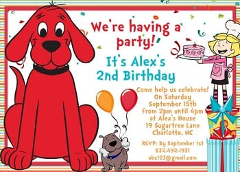 Personalized Clifford Party Invitations