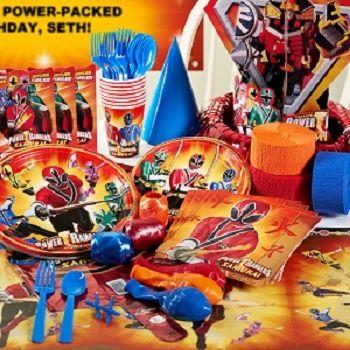 Power Rangers Samurai Birthday Party Kit