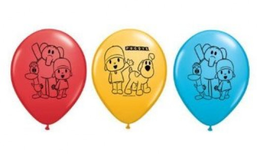Pocoyo latex balloons