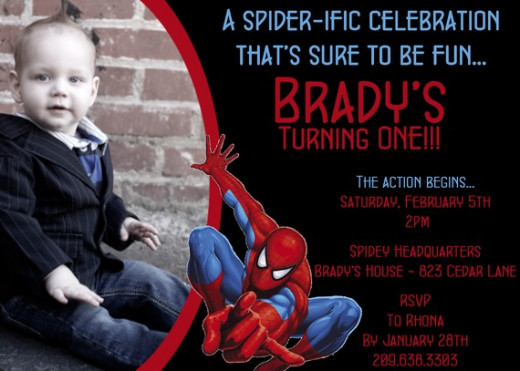 Spiderman Personalized Invitation courtesy of DarlingDesignsbySara