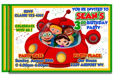 Personalized Little Einsteins Party Invitations