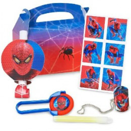 Prefilled Spideman Party Favor Boxes