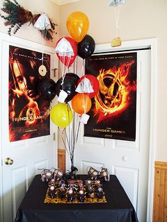 Hunger Games party decorations