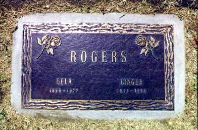 Ginger Rogers Grave