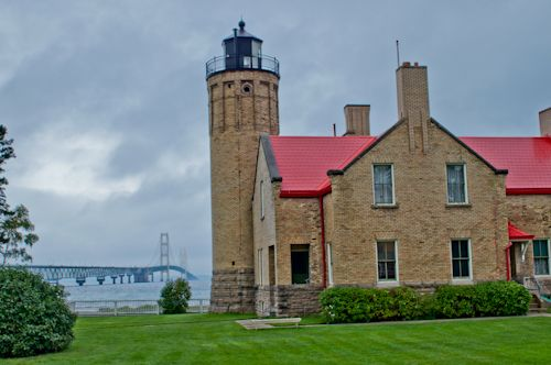 Old Mackinac Point Lighthouse and Bridge