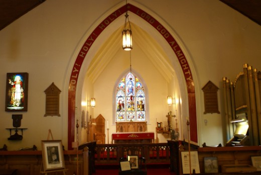 This is a church we saw while on a cruise stop in Nova Scotia.