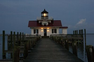 Roanoke Marshes Lighthouse in the Evening