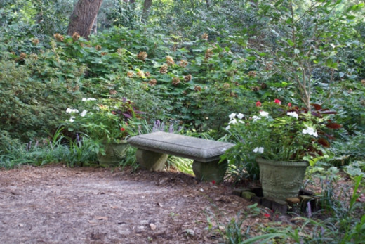 There are many little nooks with benches to rest and reflect.