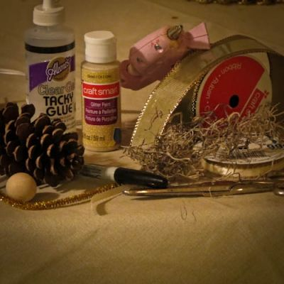 Materials Needed for Pine Cone Angel
