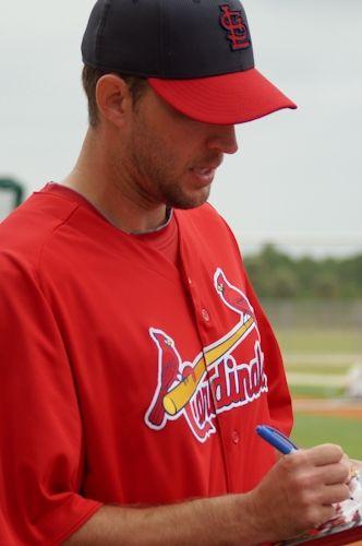 Adam Wainwright Signing Autographs