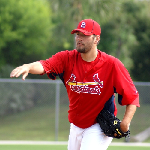 Lance Lynn at pitching practice.
