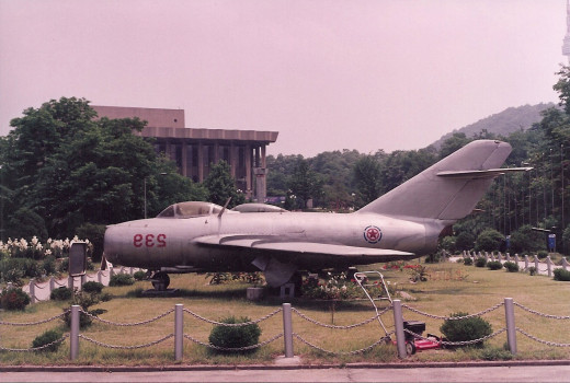 A North Korean MiG-15. June 1991.