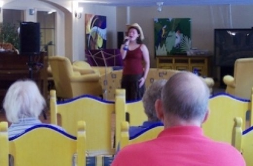 Kaity Bayne sings at Amber Lights Retirement Community