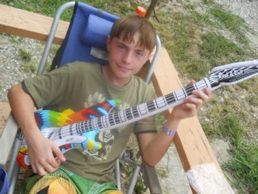 Everyone loved the groovy tie dye inflatable guitar!