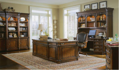 Traditional Executive Desk and Bookcases
