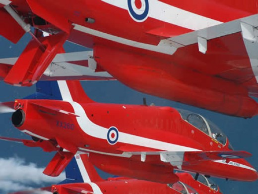 British RAF Red Arrows Aerobatic Team