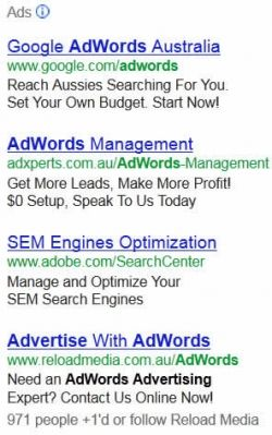 Adwords Advertisements