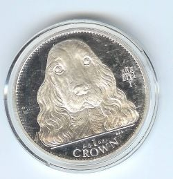 This is a silver coin.  There are seven coins in the series.