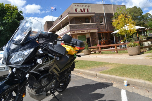 Day 2 - Lunch at a motorcycle friendly cafe in Walcha where two great motorcycling roads cross. The Oxley Highway and Thunderbolts Way.