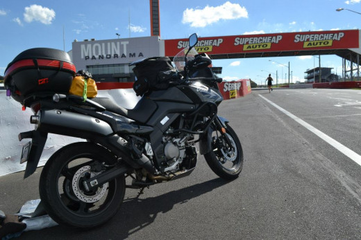 Day 3 - A few laps of the famous Mount Panorama Racing Circuit at Bathurst.