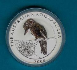 2008 Silver Australian Kookaburra, a Perth Mint coin.