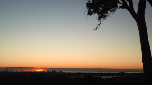 Magnificent sunrises was one of the benefits of our early morning mid week training walks.