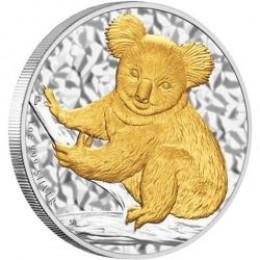 2009 Gilded Koala:  Gold on Silver