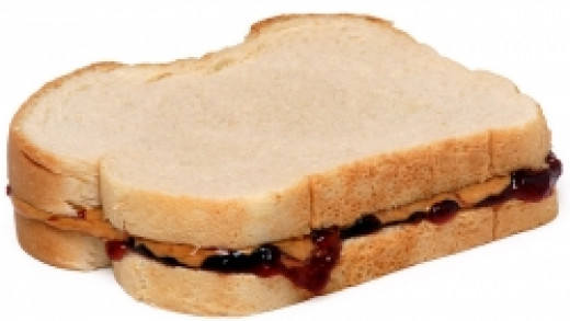 Skippy Peanut Butter and Welch's Grape Jelly on White Bread