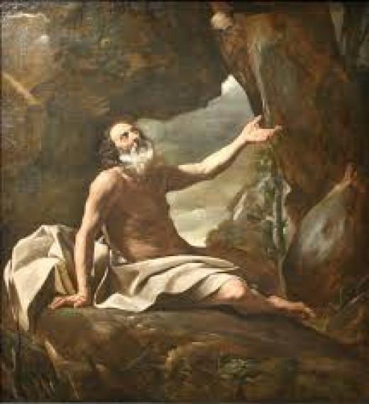 Elijah fed by the ravens, by Giovanni Lanfranco, Musée des beaux-arts de Marseille